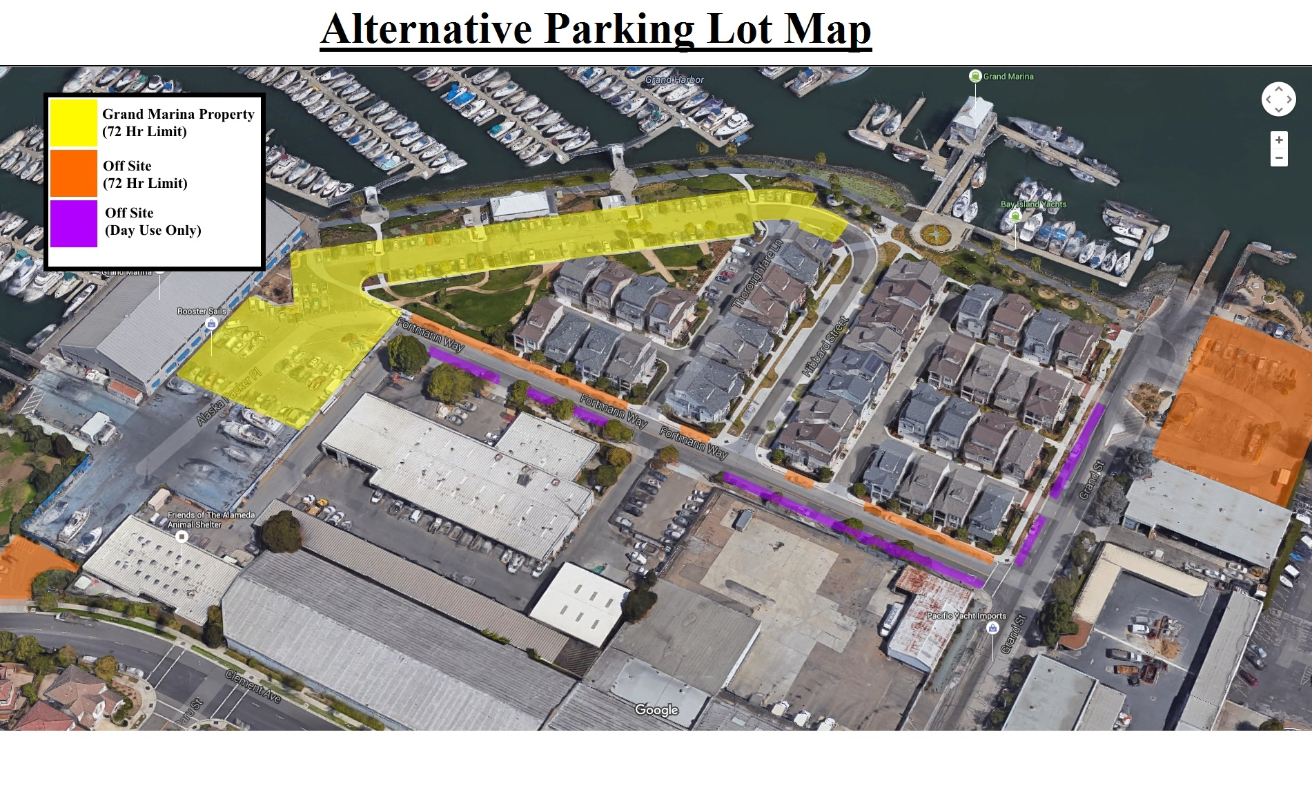Grand Marina Parking Alternatives